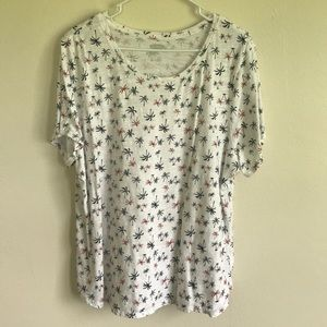 Old Navy Red, White and Blue Everywear T-Shirt XXL